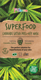 7th Heaven Superfood Slupovací maska Cannabis sativa 10ml