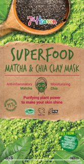 7th Heaven Superfood Jílová maska Matcha & chia  10g
